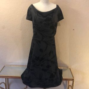 Black and Charcoal Patterned Alex Marie Dress